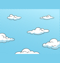 Sky halftone background vector