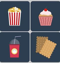 Snacks icon set vector
