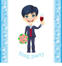 Stag party invitation vector