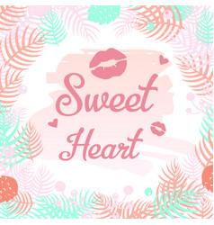 Sweet heart design elements vector