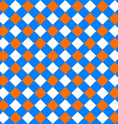 Table diagonal cloth seamless pattern orange and vector image