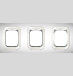 Three windows on airplane vector