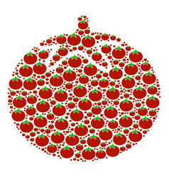 tomato vegetable icon composition vector image
