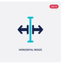 Two color horizontal resize icon from arrows vector