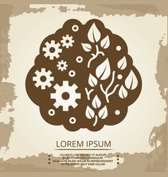 two hemispheres brain vector image