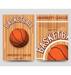 Univercity basketball flyer template with ball vector