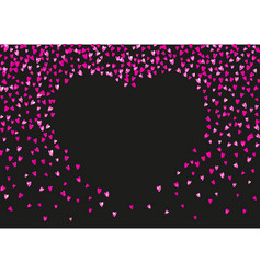 valentines day card with glitter hearts vector image