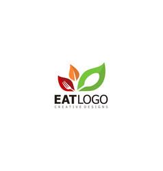 vegetarian food eat vegetables brand logo icon vector image