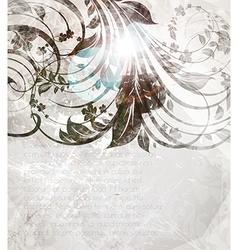 Vintage Floral Design in Grey Tones vector