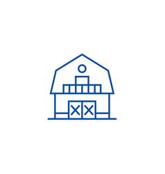 warehousefarmbarn line icon concept warehouse vector image