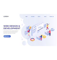 web development isometric vector image