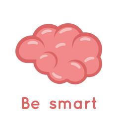 Brain smart logo symbol education scientific idea vector