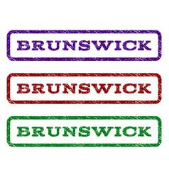 brunswick watermark stamp vector image vector image