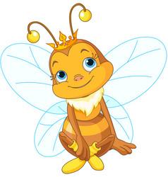 cute queen bee vector image vector image