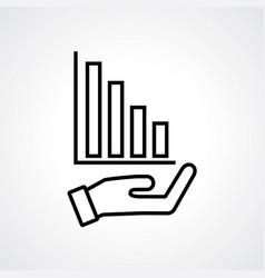 increase icon design vector image