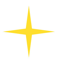 isolated yellow gold star icon ranking mark vector image vector image