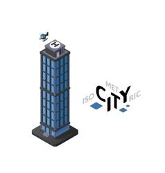 Isometric skyscraper icon building city vector image vector image