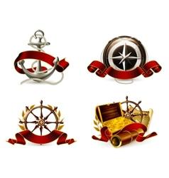 Marine Emblem set vector image vector image