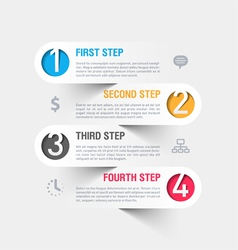 Business steps infographics template vector image vector image