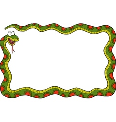 frame with snake vector image vector image