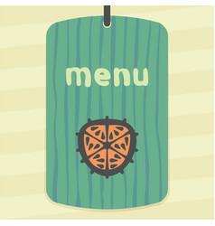 outline orange slice icon modern infographic logo vector image vector image