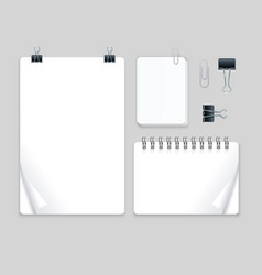 realistic detailed 3d note set vector image vector image