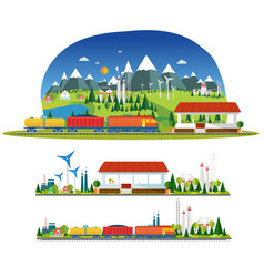train station and more transport vector image