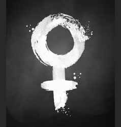 chalked of woman symbol vector image