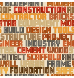Construction words seamless tile vector image vector image