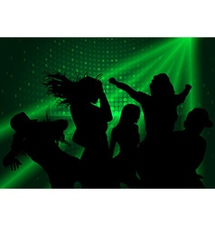 Dance Party and Laser Show vector image vector image