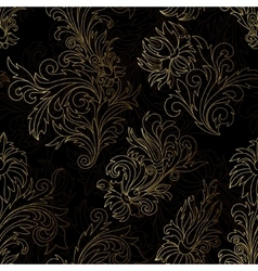 Gold damask ornaments seamless vector image vector image