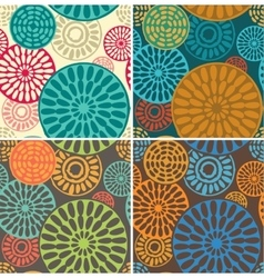 Seamless geometric tribal vintage patterns vector image vector image