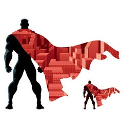 Superhero Abstract vector image vector image