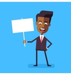 African american businessman holding banner vector image