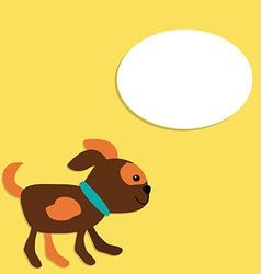 Cute Puppy in Cartoon Style with Place for Your vector image vector image