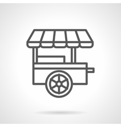 Fast food trailer black line icon vector image vector image