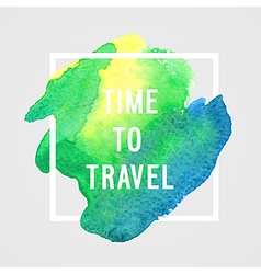 Motivation poster Time to travel vector image
