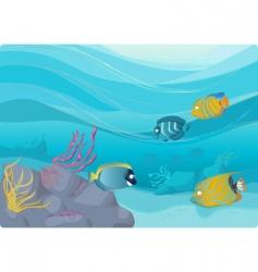 underwater illustration vector image vector image