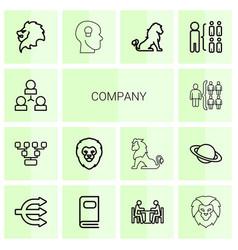 14 company icons vector