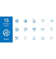 15 shiny icons vector
