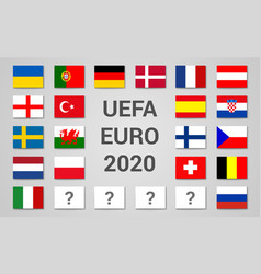 2020 euro championship football cup composition vector image