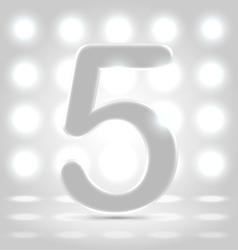 5 over back lit background vector image
