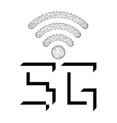5g high speed web connection symbol vector