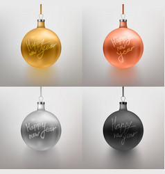 6 set realistic christmas toy vector image