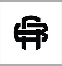 Ab logo monogram design template vector