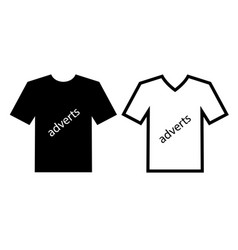 Advertise channels on clothes vector