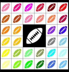 American simple football ball felt-pen 33 vector