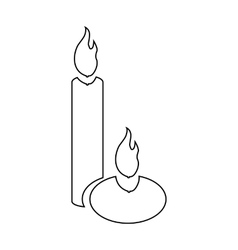 Aromatic candles icon outline style vector image