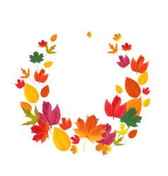 autumn natural leaves background vector image