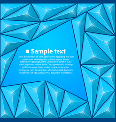 background with triangles blue vector image